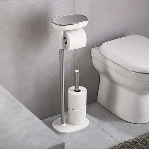 1:Joseph Joseph 70518 EasyStore Butler Toilet Paper Holder Stand