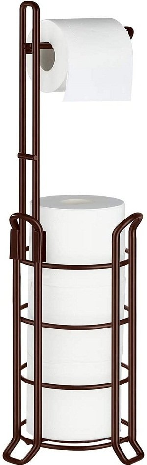 TomCare Toilet Paper Holder with Stand and Dispenser