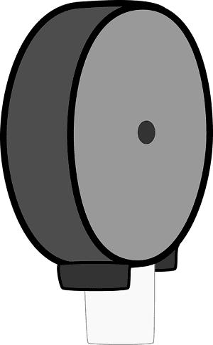 Enclosed Toilet Paper Dispenser