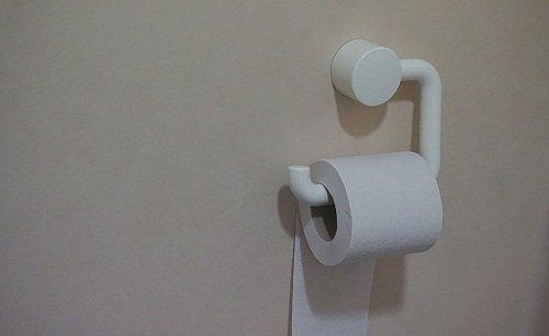 Open toilet paper holder